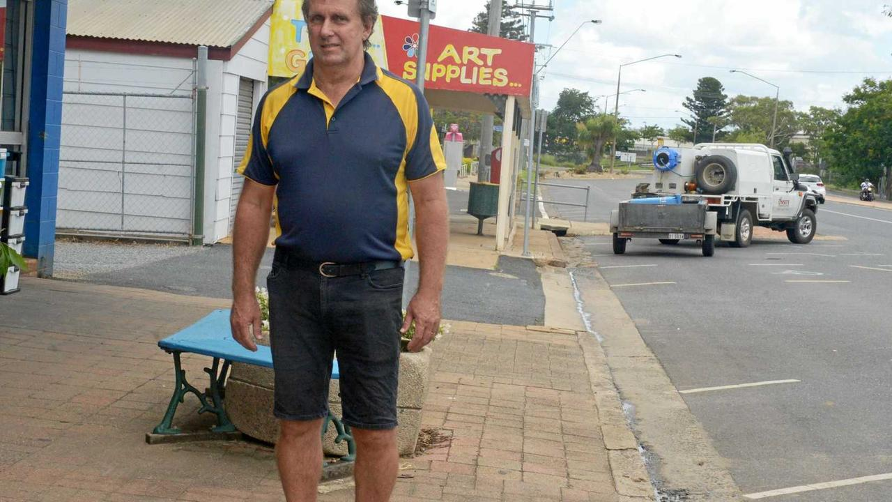 NOT FAR ENOUGH: Andrew Hope, of Gracemere Hardware on Lawrie St, believes improvements should go as far as Ranger St.