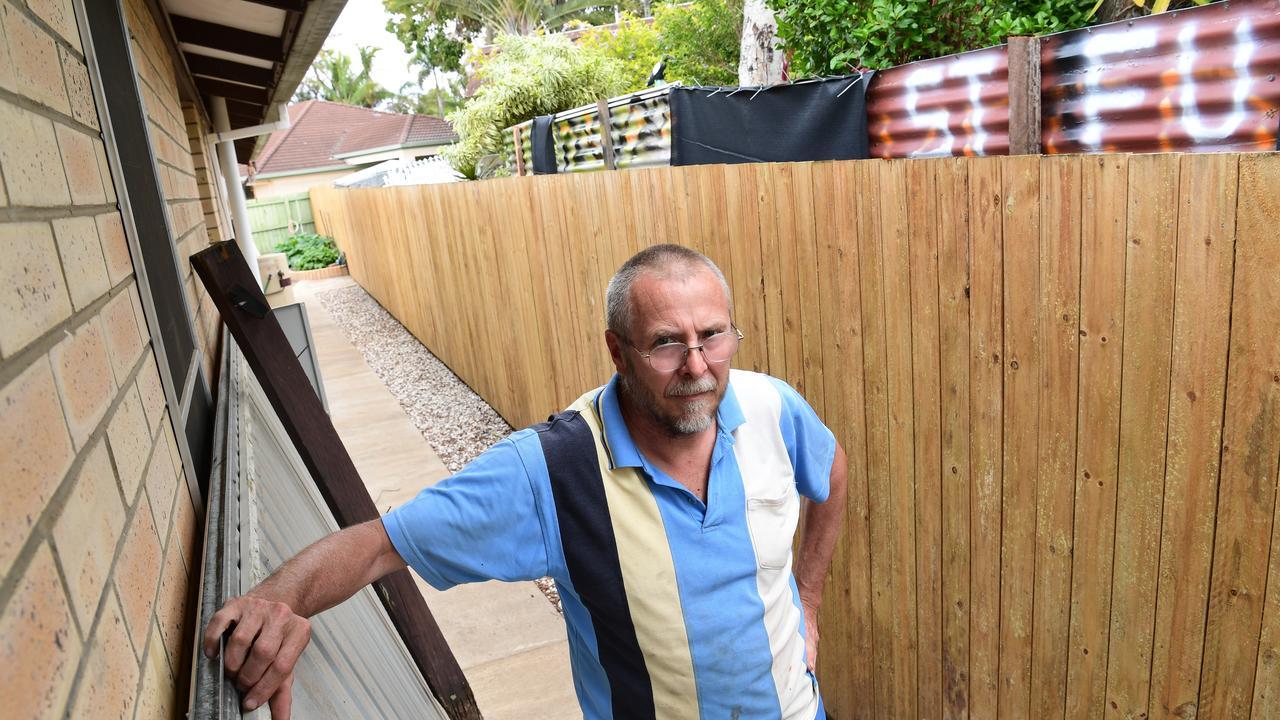 Crane Street resident Geoff Matthews is upset with his neighbour.