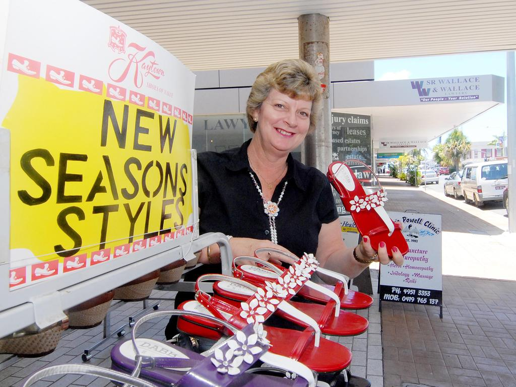 Kaytown Shoes' Mary Rose Stevens at the Sydney St store in 2012. Photo: Tony Martin.