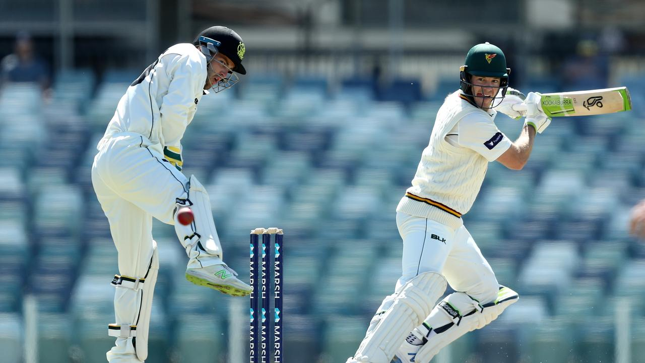 Paine batting freely against Western Australia last week. Picture: AAP
