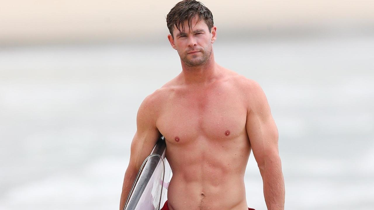 Chris Hemsworth has three small tattoos that are easily concealed. Picture: Backgrid