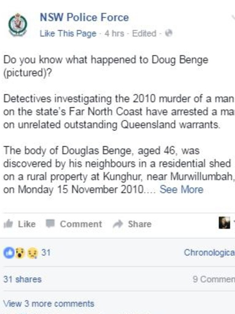 NSW Police posted to Facebook seeking information.