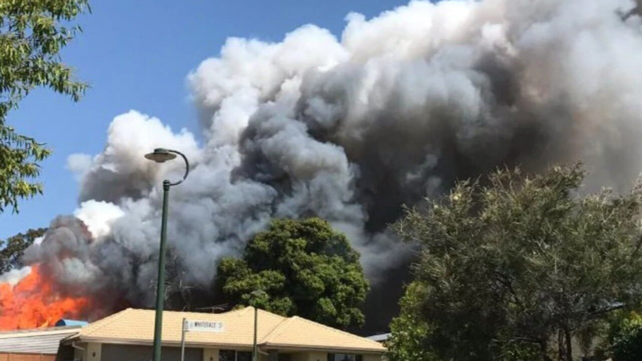 The fire quickly spread through the Mango Hill home, with QFES yesterday initially concerned it would impact another home. Pic: Go Fund Me