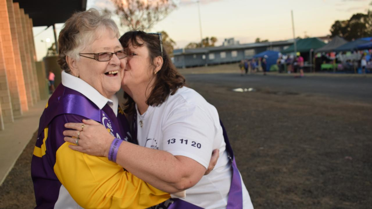 FIGHTING BACK: Mother and daughter Helen McKay and Maree Morris participated in the Dalby relay for life this year as proud survivors of breast cancer.