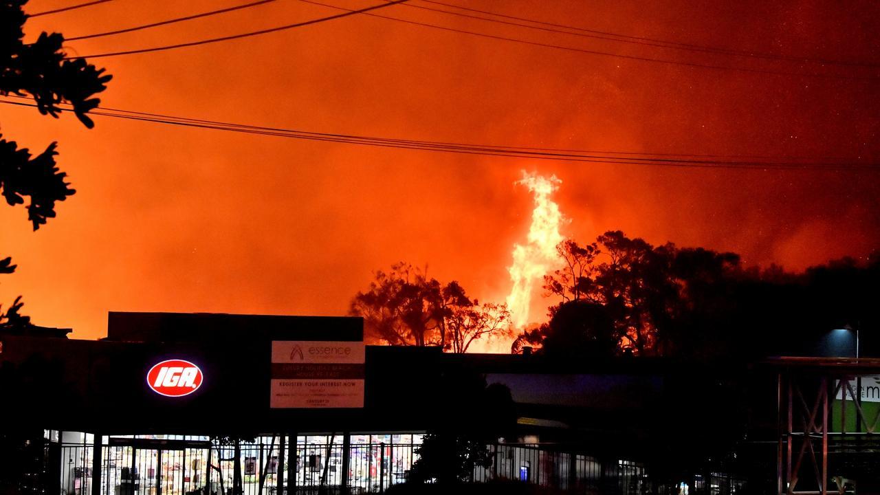 A monstrous and devastating fire ripped through Peregian Springs, Peregian Breeze and Peregian Beach in September. Photo: John McCutcheon