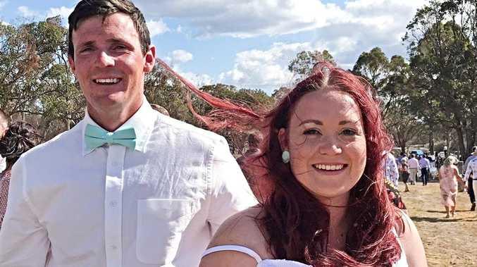 Love-filled bush wedding for newlyweds