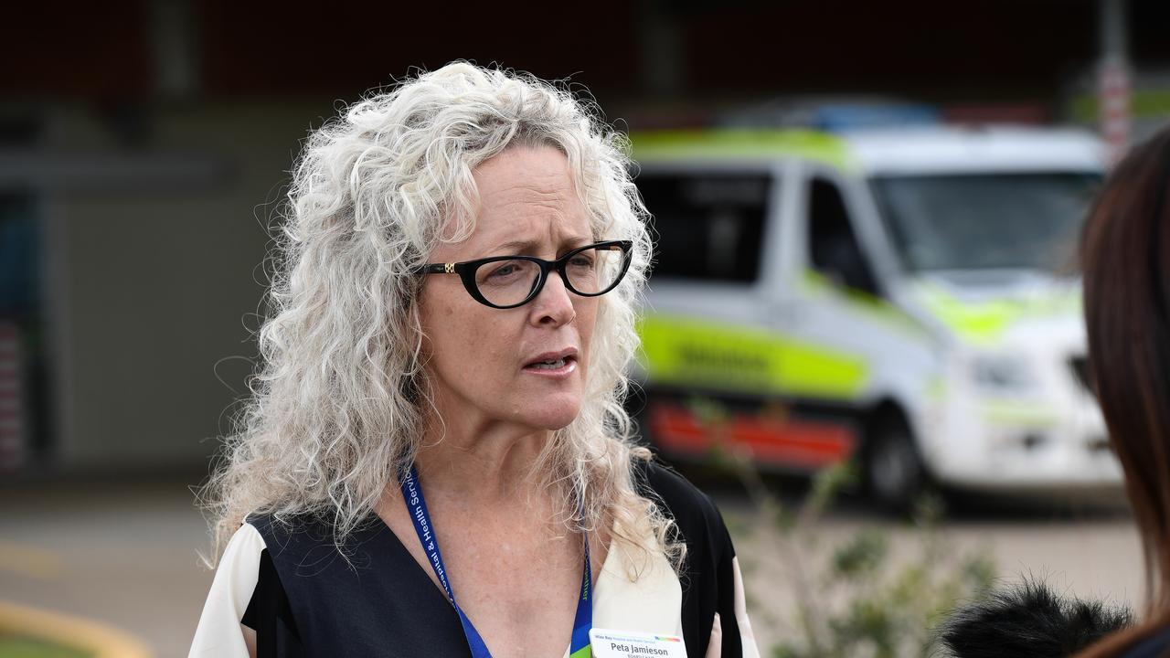 WBHHS board chair: Peta Jamieson outside the Bundaberg Hospital.