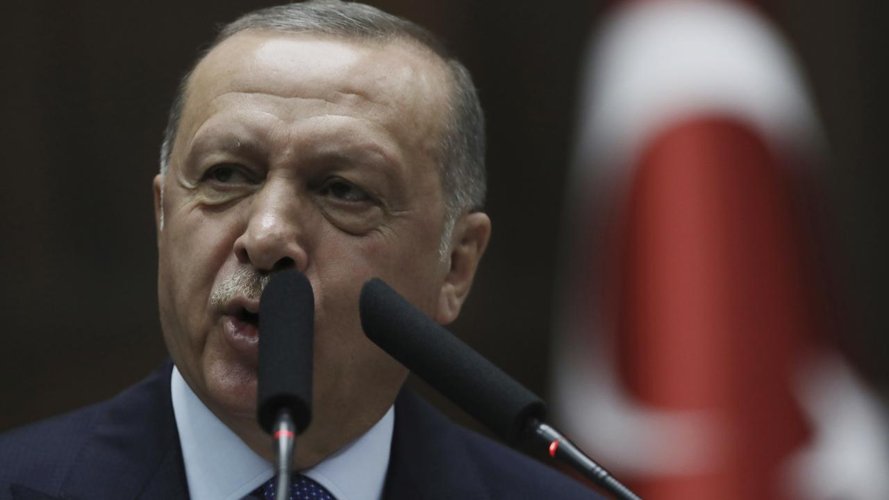 Turkish President Recep Tayyip Erdogan says the Kurds are terrorists. Picture: AP Photo/Burhan Ozbilici