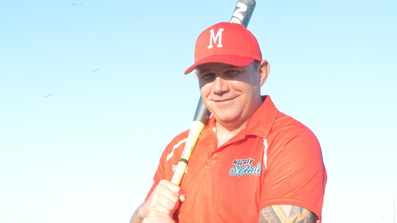 Mackay softball coach Abe Kilgour.