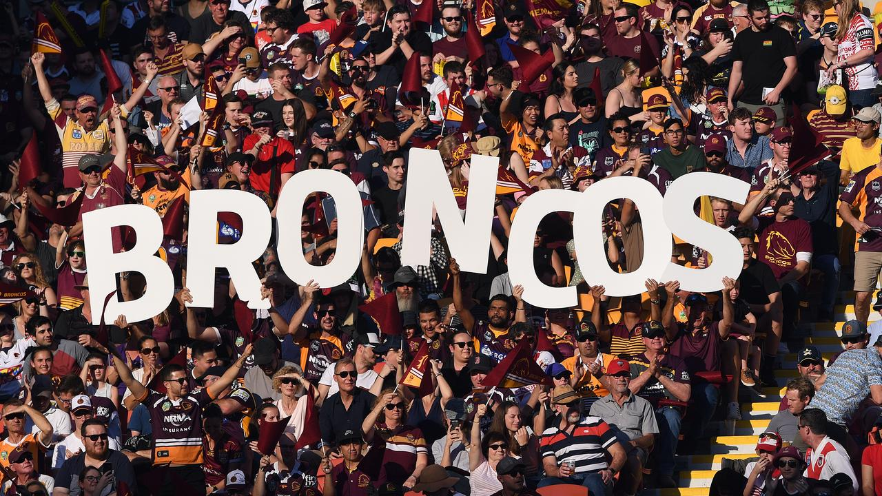 For three decades the Brisbane Broncos have attracted Rugby League's biggest crowds. Picture: Dave Hunt/AAP