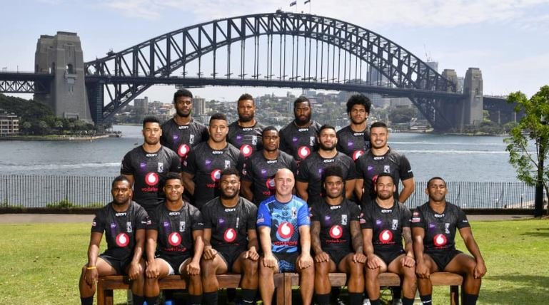FIJIAN FLAVOUR: The Fiji Bati pose for a team photo ahead of the Rugby League World Cup 9s.