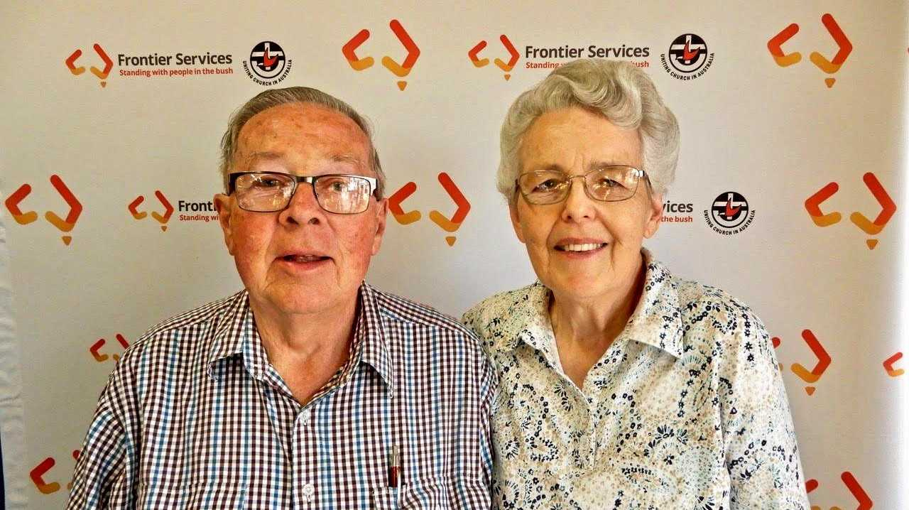 HELPING HANDS: Howard and Mary Jones  are just back from volunteering with Outback Links.