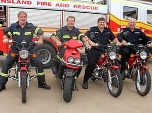 Firemen fire up their postie bikes for men's health campaign