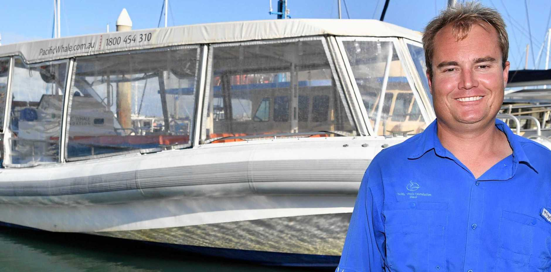 CHANGE OF HEART: Scott Whitcombe from Pacific Whale Foundation says he would not longer jump in the water to save an entangled whale.