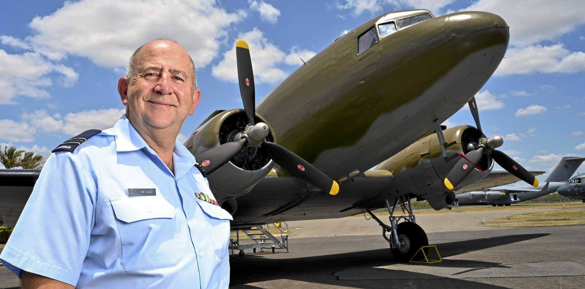 OPEN DAY: Douglas Dakota C-47B A65-86 at the RAAF Amberley Aviation Heritage Centre. Squadron Leader Paul Ashby.