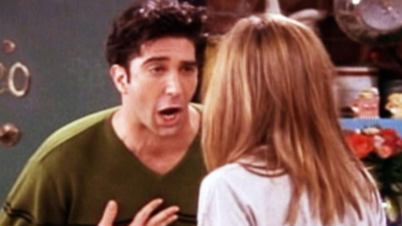 One of the many, many times a frustrated Ross tells Rachel they were 'on a break'. Picture: Supplied