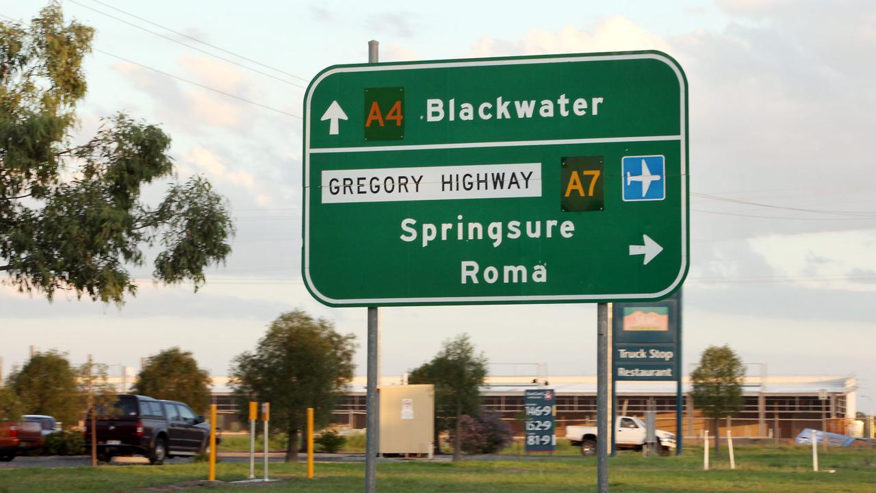 Road sign blackwater