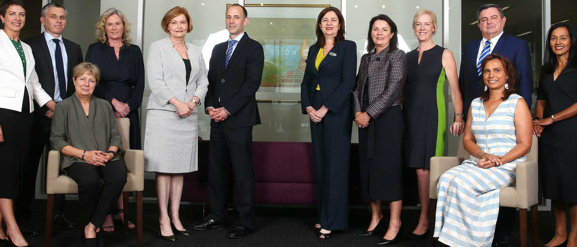 Business leaders are backing the 2032 Olympics bid after meeting with Premier Annastacia Palaszczuk (centre).