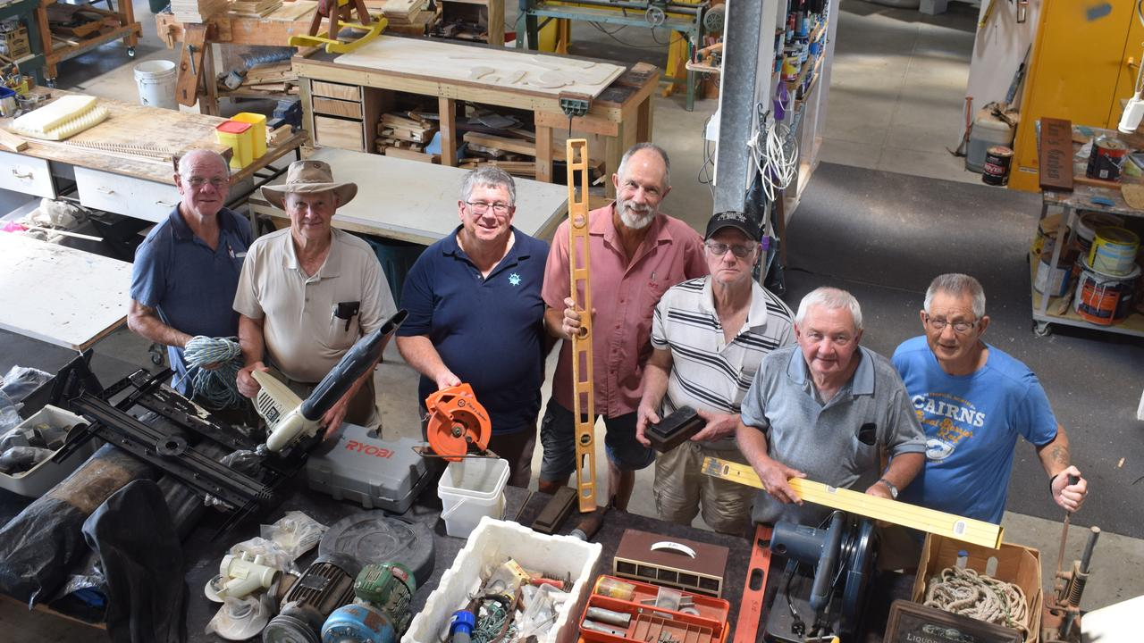 OPEN DAY: Gladstone Men's Shed is hosting an open day and garage sale on Saturday, October 19 from 8am until 1pm. (L to R): Alan Armour, Ian Horsburgh, president Ron Steen, Gerry Graham, Dave Moore, Dave Gibson and Graham Martin.