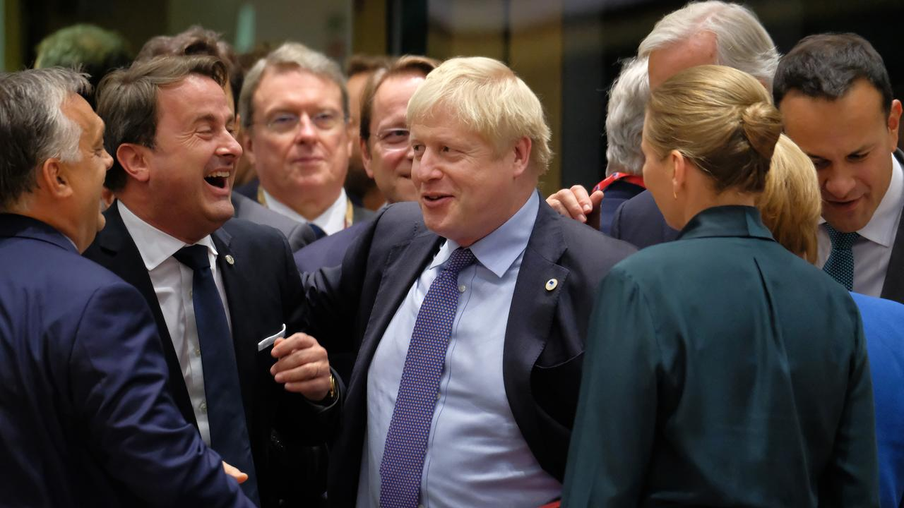 Mr Johnson said he wanted to just get Brexit done. Picture: Sean Gallup/Getty Images