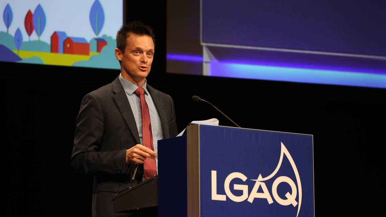 Bundaberg Regional Community's economic development executive Ben Artup speaks at the LGAQ annual conference in Cairns. Picture: LGAQ