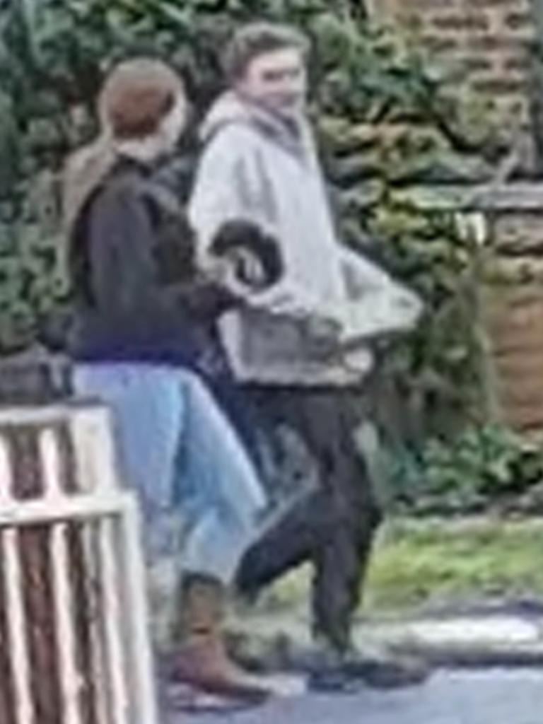 Two people captured in CCTV.