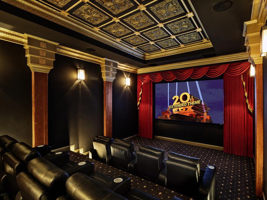 The stunning cinema room at 19 Hardwood Ct, Buderim.
