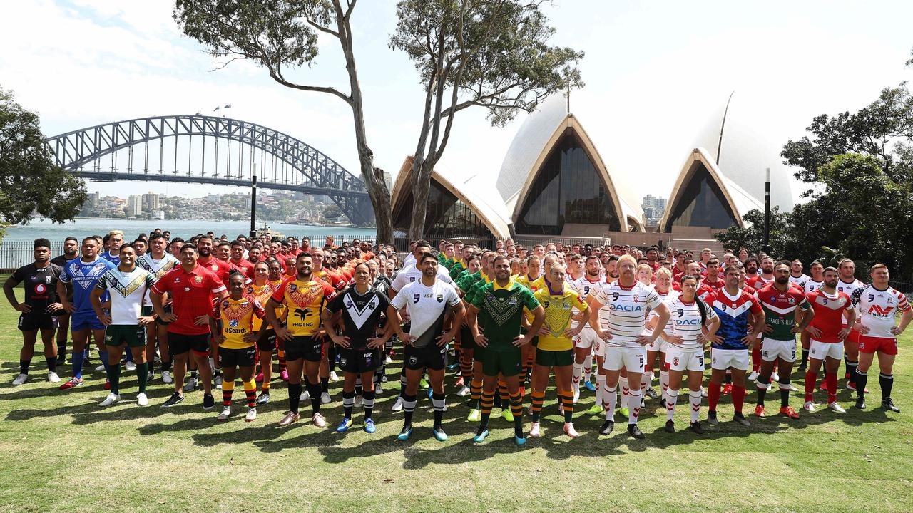 Players team photo during the Rugby League World Cup 9s Media Day.