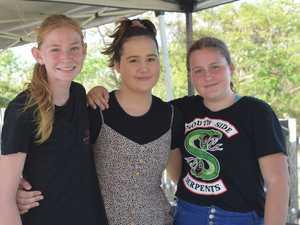 Alira Vaughan, 14, Zoe, 13, and Kailah, 15, McLean.
