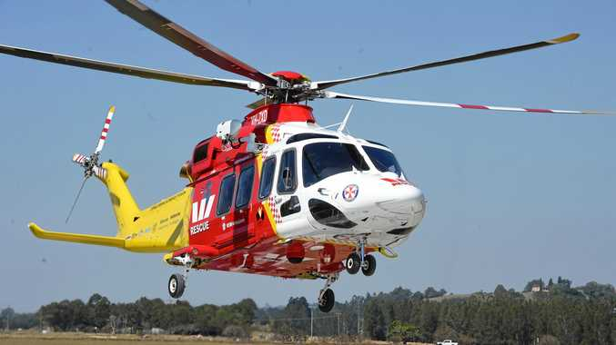 Cyclist, 60, airlifted to hospital in serious condition