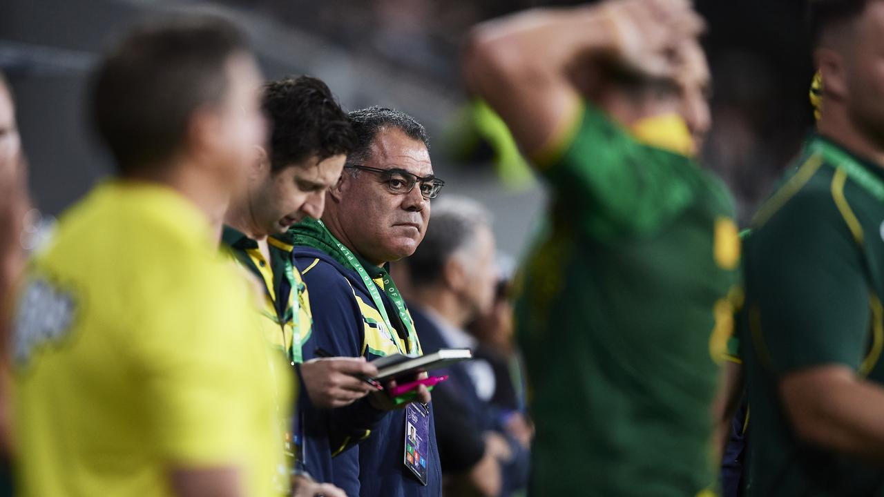 Mal Meninga looks on from the Australian bench. (Photo by Brett Hemmings/Getty Images)