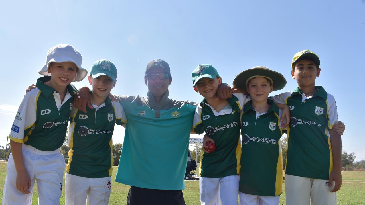 Roma's junior cricketers came out in force this weekend, with 102 showing up to kick off their season with Jasper Sumner from Queensland Cricket.