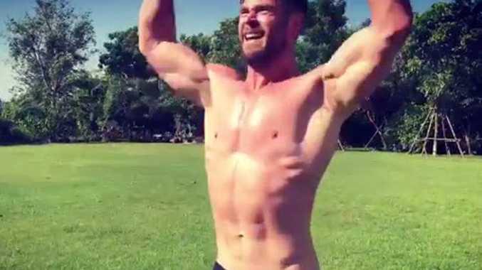 Chris Hemsworth's insane new workout vid