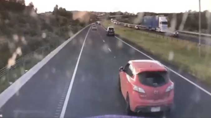 WATCH: Truckie captures driver's 'stupid' decision