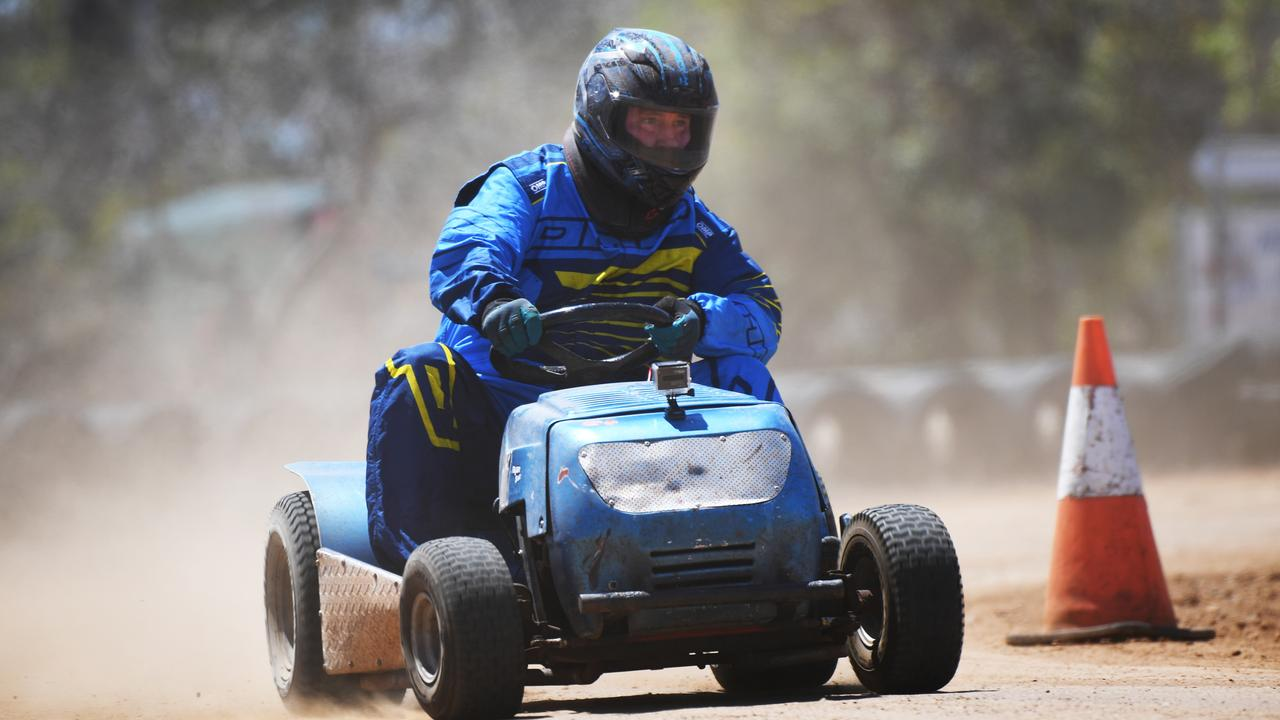 REVVED UP: Rockhampton's Rick Ryan will be among the competitors hitting the Yaamba Raceway for Round 8 of the Queensland Mower Racing Championships tomorrow.
