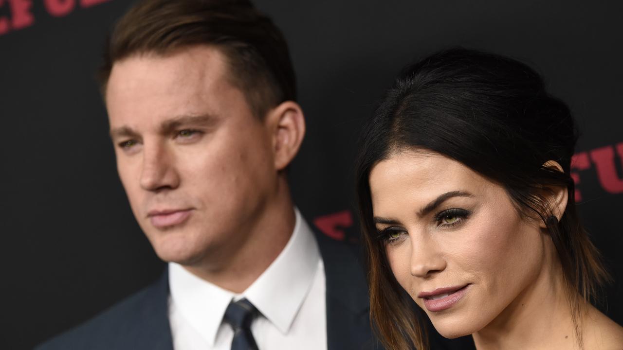 Channing Tatum, left, and Jenna Dewan Tatum. Picture: Chris Pizzello/Invision/AP