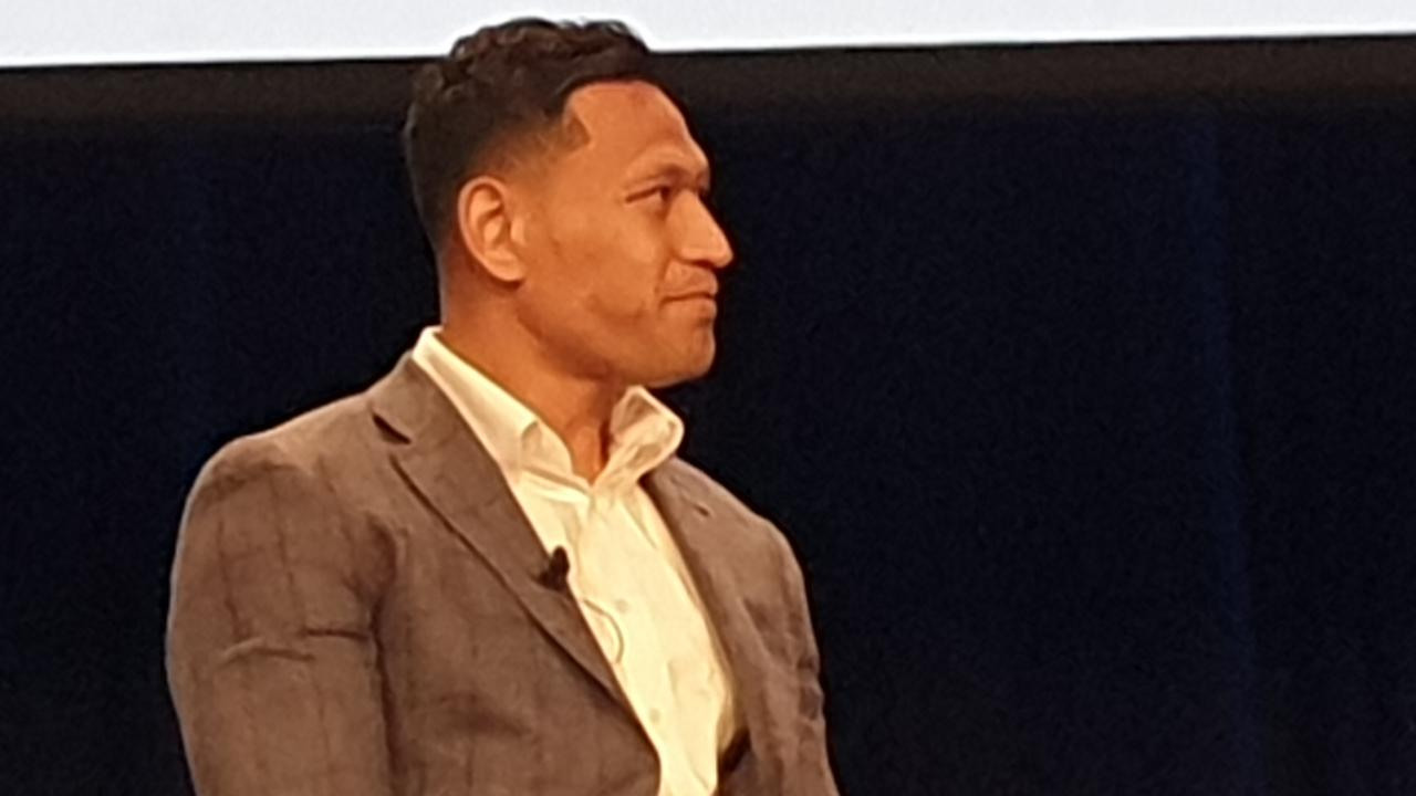 Israel Folau appears at the
