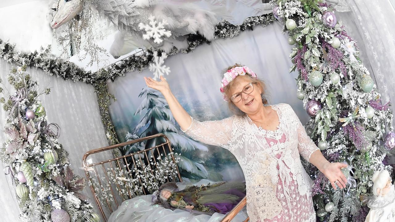 ICE DRAGON: Visual display artist Jule Barten has just completed a brand-new Christmas window that has been unveiled to the public and visitors are absolutely enthralled at the fine details of 'Bubbles the Ice Dragon