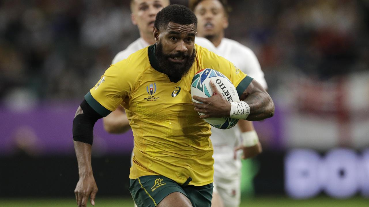 Marika Koroibete scored a wonderful try for the Wallabies. Picture: AP