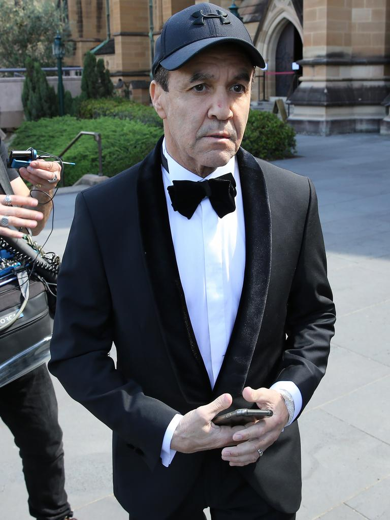 Fenech outside the church after his daughter's wedding. Picture: Rohan Kelly