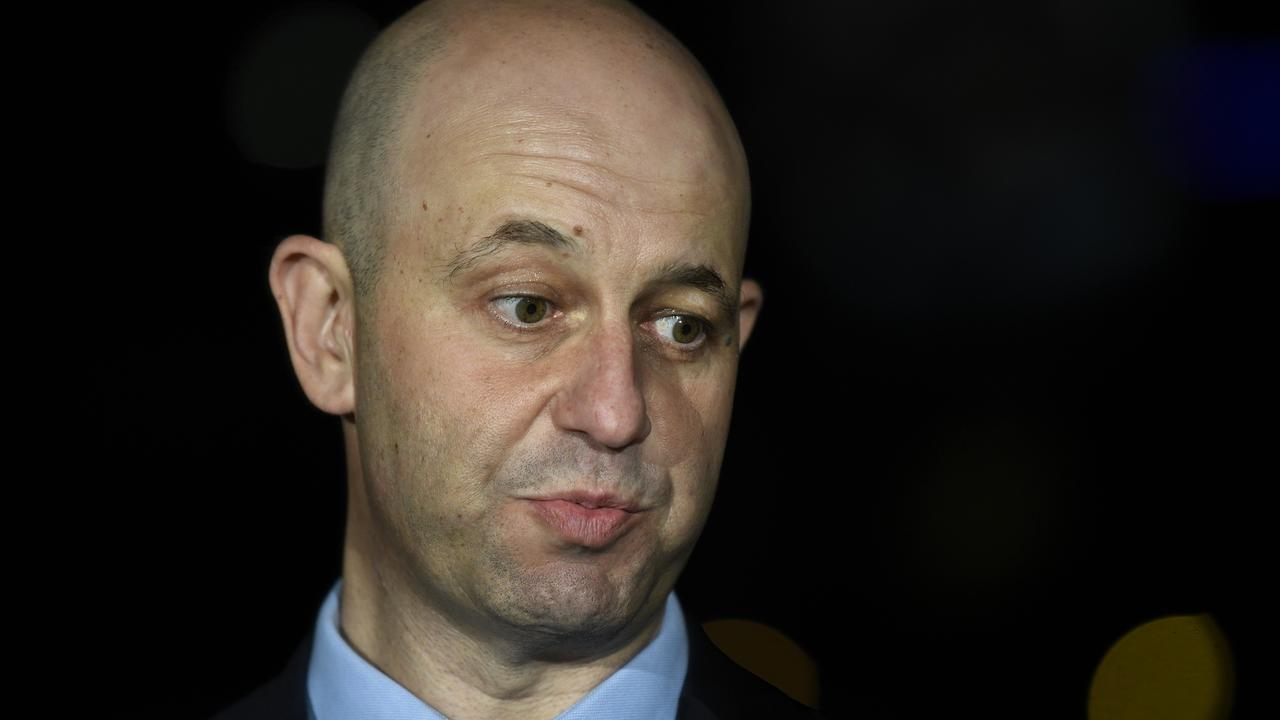 NRL CEO Todd Greenberg might not have been popular in Brisbane if a planned draw announcement at Howard Smith Wharves went ahead. Picture: Bianca De Marchi/AAP