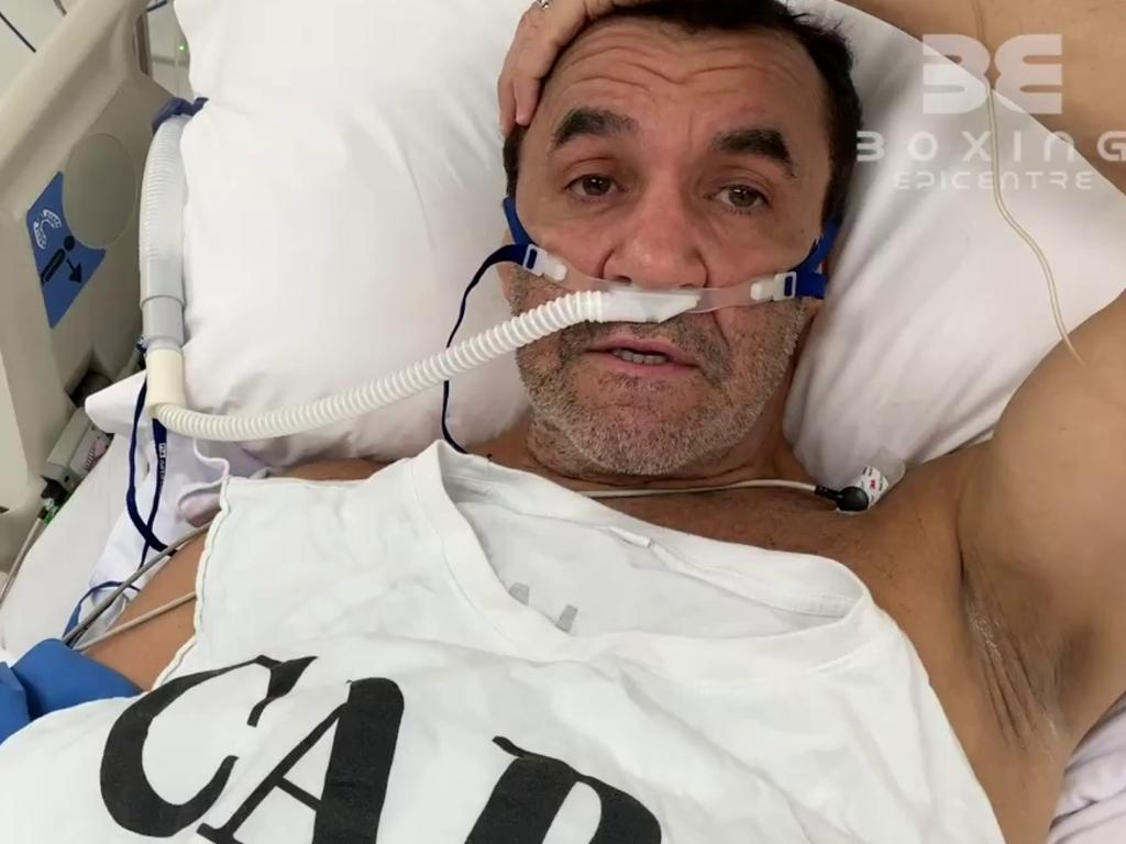 Jeff Fenech contracted a heart infection and had emergency surgery in a Bangkok hospital. Picture: Fight Call Out