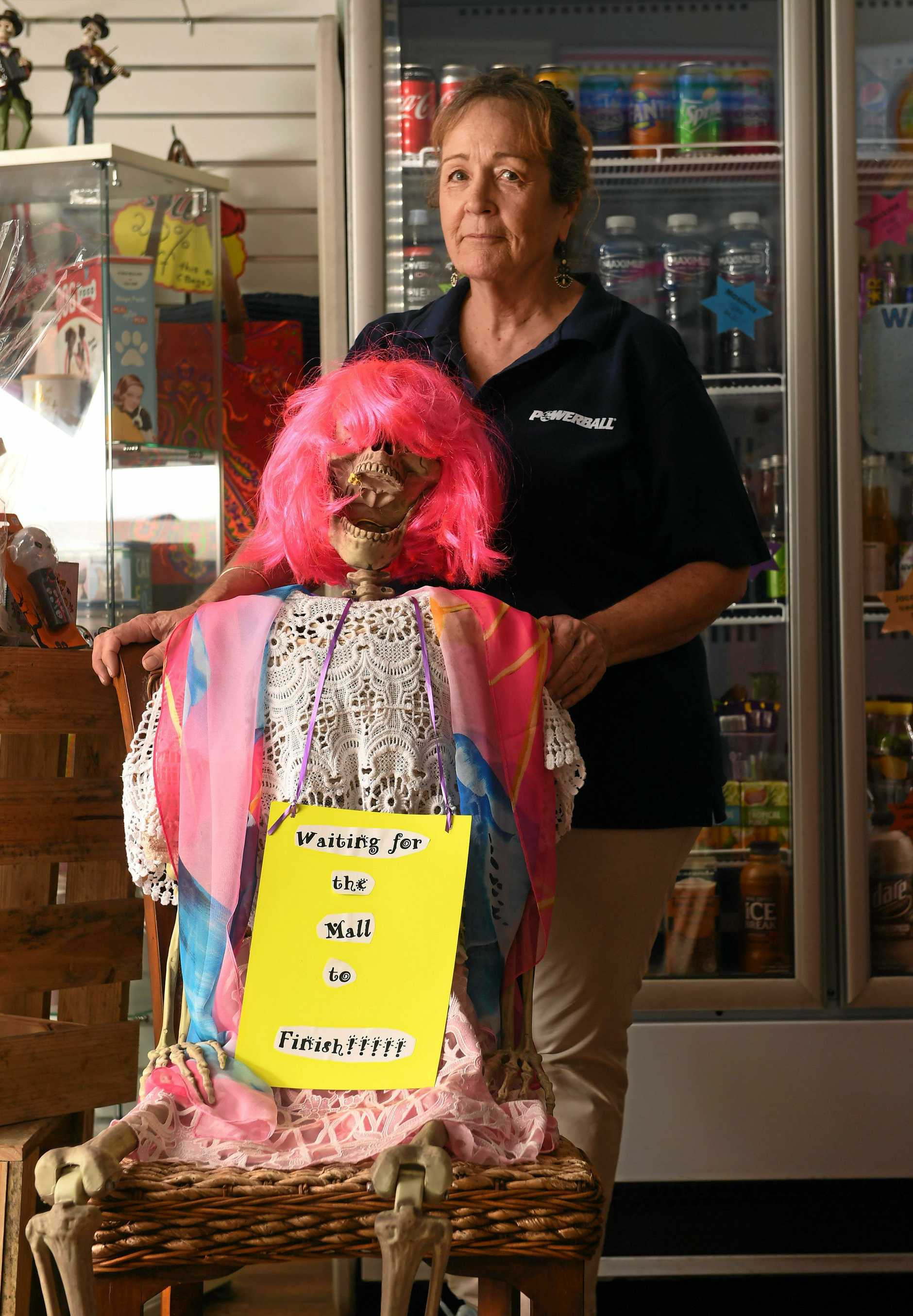 Pauline Williamson from Ipswich City Mall Newsagency can't wait for the mall to be completed.