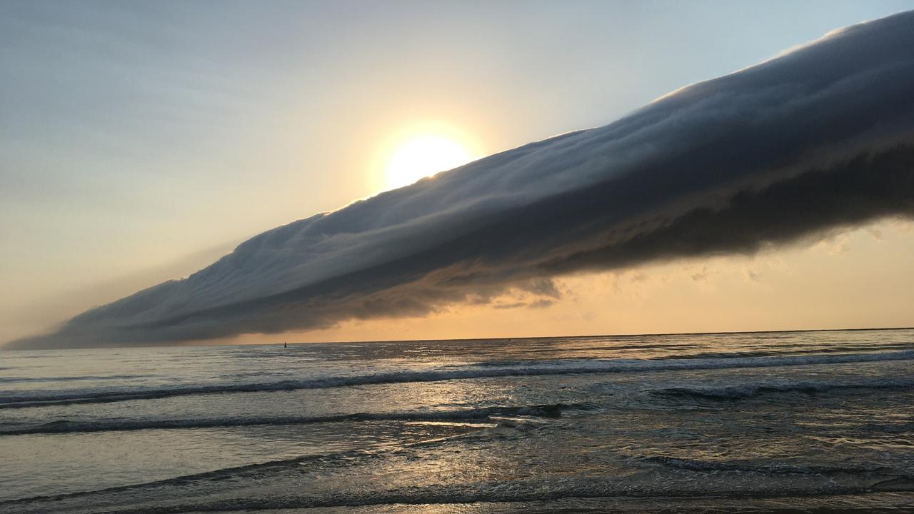 John Affleck snapped this photo of a large cloud formation rolling in over Burleigh Heads.