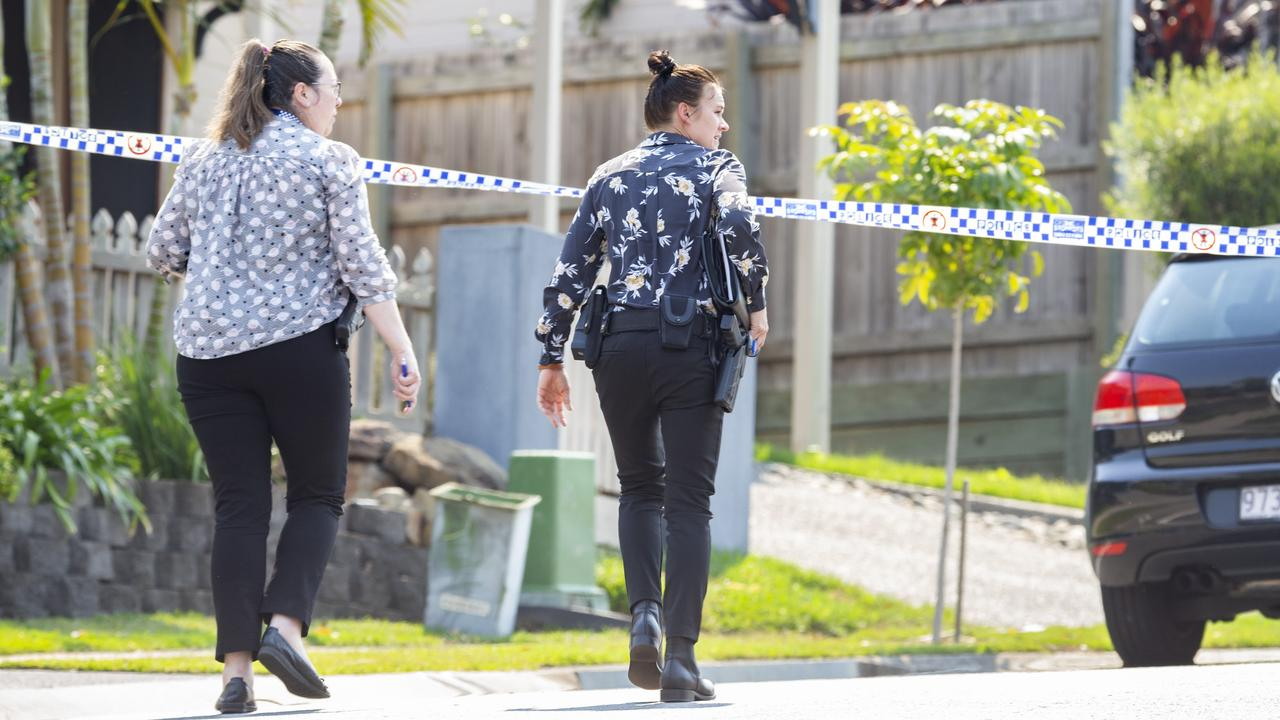Queensland Police spoke to witnesses at The Promenade, Springfield Lakes. Picture: AAP Image/Richard Walker