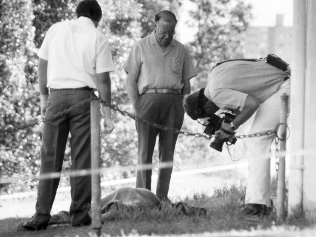 Investigators at the crime scene in Orleigh Park. Picture: Supplied