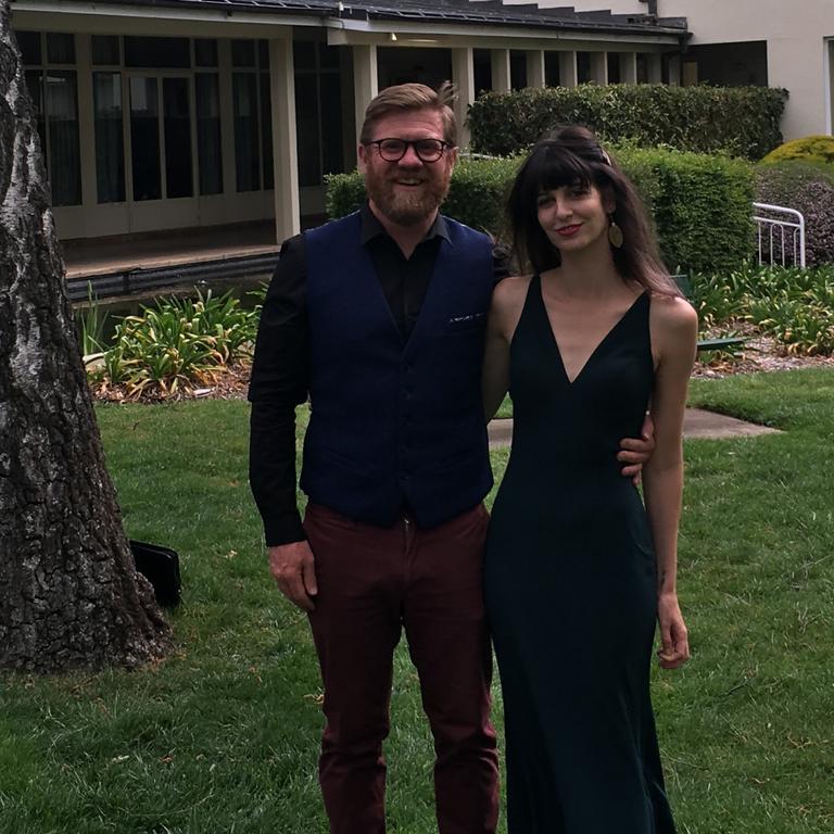 Supplied photo of Associate Professor Gemma Carey with her partner Ben O'Mara.