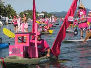 Plenty made the Noosa River's pinkest day