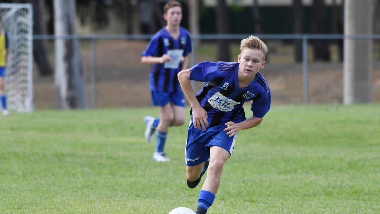 Soccer: Bluebirds White's Josh Kuss.