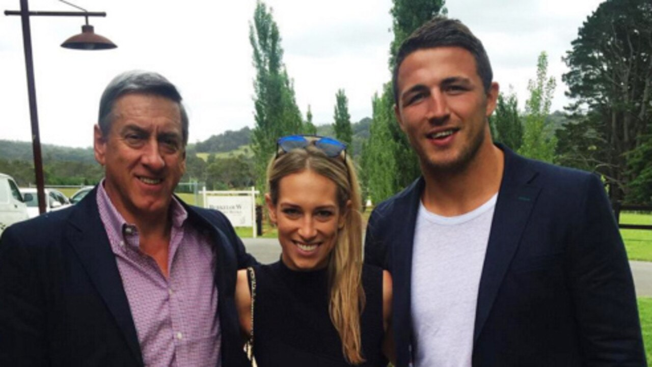 Mitch Hooke, Sam Burgess and Phoebe. Picture: Instagram